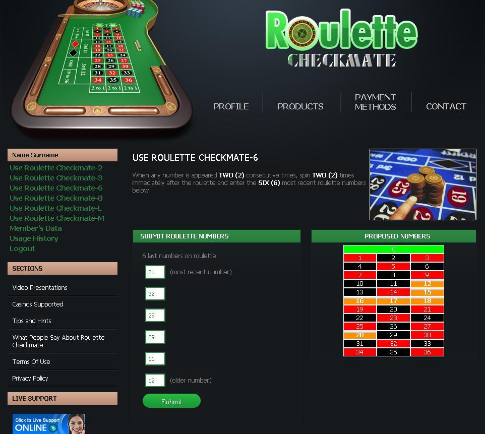 Live roulette prediction software 1 dollar craps tables las vegas
